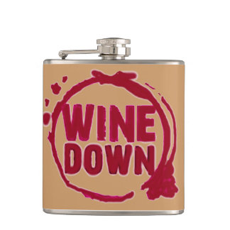 """Wine Down"" On the go wine flask"