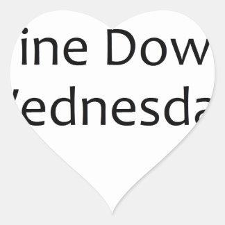 wine down wednesday- black heart sticker