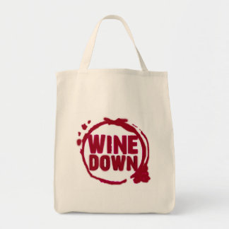 """WINE DOWN""....WINE STAIN DESIGN TOTE BAG"
