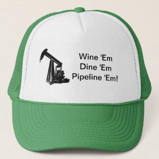 Wine Em Dine Em Pipeline Em Trucker Hat