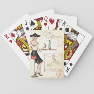 Wine Fashionista Playing Cards