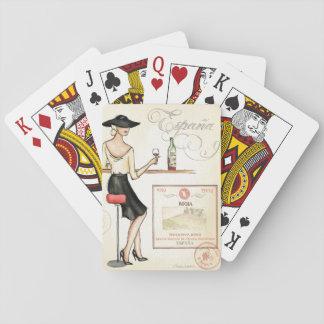 Wine Fashionista Poker Deck