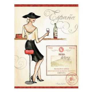 Wine Fashionista Postcard