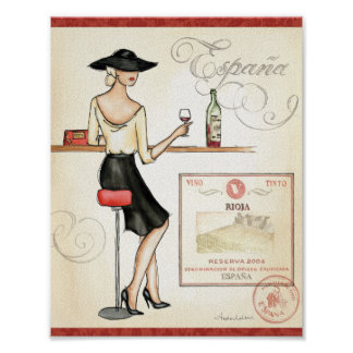 Wine Fashionista Poster