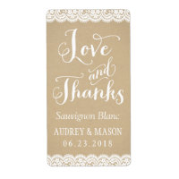 Wine Favour Labels | Lace and Kraft