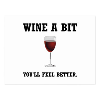Wine Feel Better Postcard
