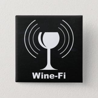 Wine-Fi Wine Lover Humor 15 Cm Square Badge