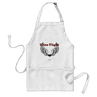 WINE FLIGHT WINGS AND RED WINE PRINT STANDARD APRON