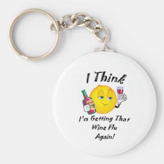 Wine Flu Key Ring