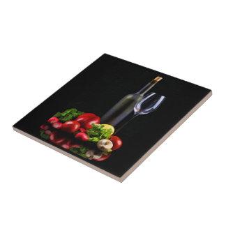 Wine for a Salad Tile