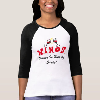 Wine For Sanity! Black/Red T-Shirt