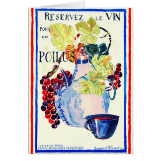 Wine for Soldiers 1916 Greeting Card