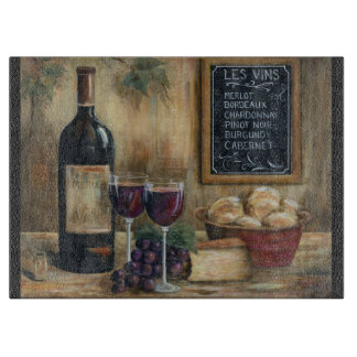 Wine For Two Glass Cuttingboard Cutting Board