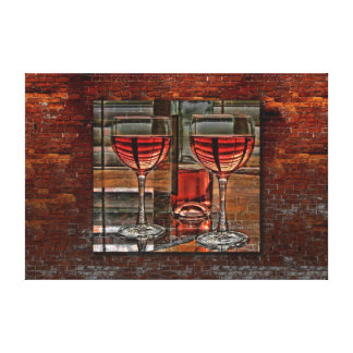 Wine For Two On Canvas Canvas Print