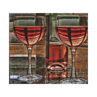 Wine For Two On Canvas Gallery Wrap Canvas