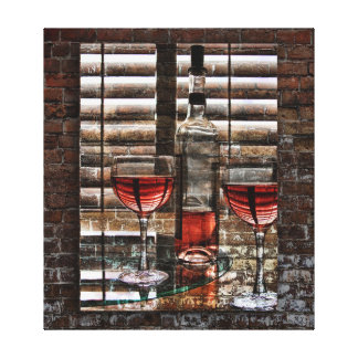 Wine For Two Poster Gallery Wrap Canvas