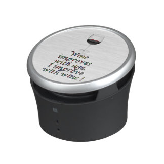 Wine funny text bluetooth speaker