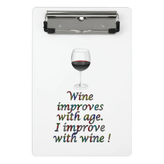 Wine funny text mini clipboard