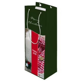 Wine Gift Bag Christmas Green