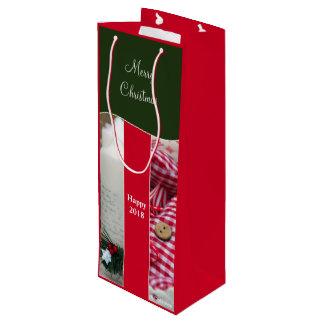 Wine Gift Bag Christmas Red
