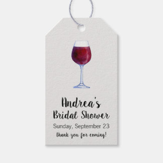Wine Gift Tags or Wine Tasting Favor Tags