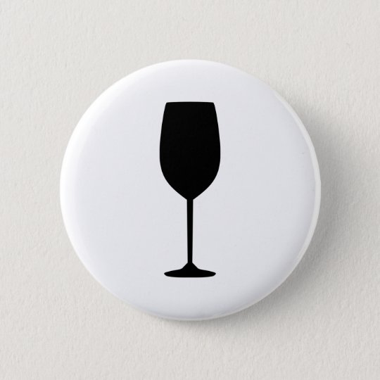 Wine glass 6 cm round badge