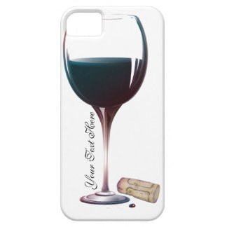 Wine Glass Art Personalised Logo iPhone 5 Cases