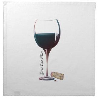 Wine Glass Art Personalised Logo Printed Napkin