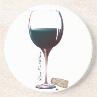 Wine Glass Art Personalised Logo Coaster