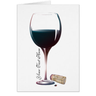 Wine Glass Art Personalised Logo Greeting Card