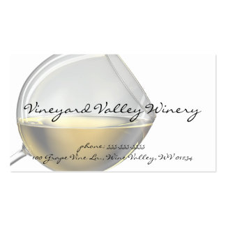 Wine Glass Business Cards