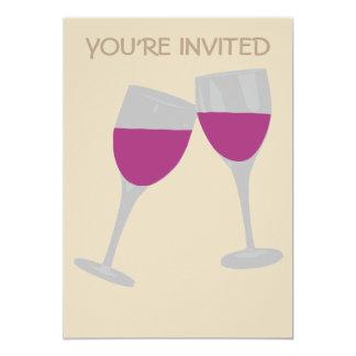 WINE GLASS CELEBRATION WEDDING INVITATION