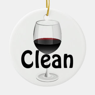 "Wine Glass ""Clean/Dirty"" Ornament"