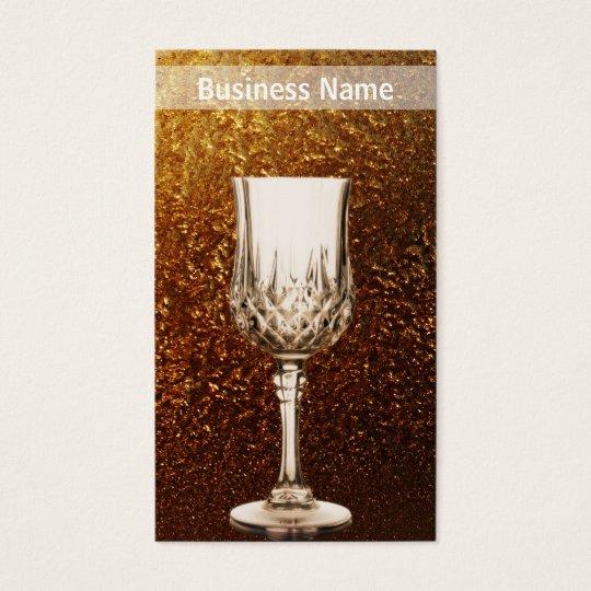 Wine Glass Golden Business Business Card
