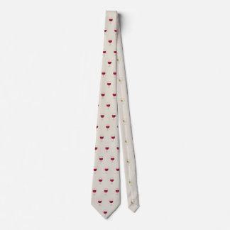Wine glass pattern design tie