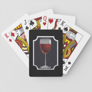 Wine glass - playing cards' poker deck