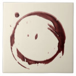 Wine Glass Ring Stain Ceramic Tile (Large)