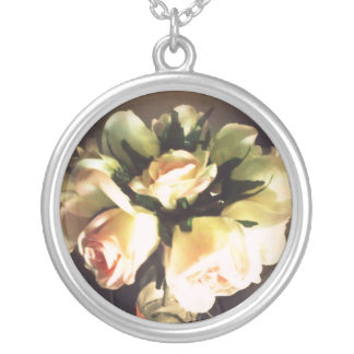 Wine Glass Roses Necklace