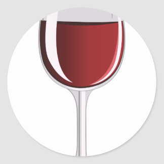 Wine Glass Round Sticker