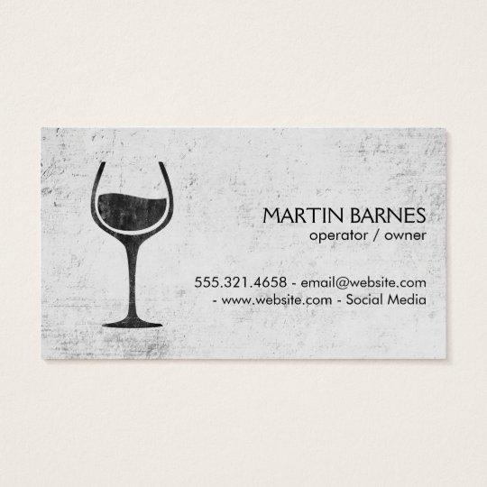 Wine Glass | Rustic Business Card