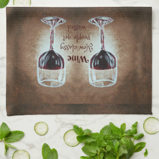 Wine Glass Saying Kitchen Towel