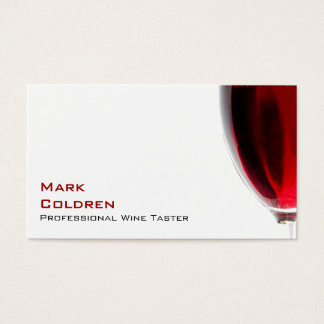 Wine Glass with Red Wine Business Card