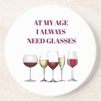 Wine glasses expression coaster