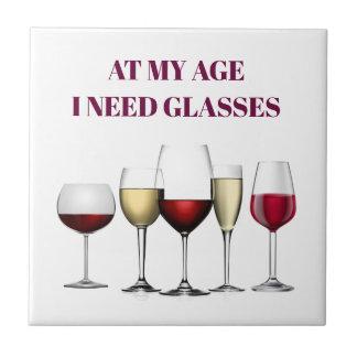 Wine glasses expression tile