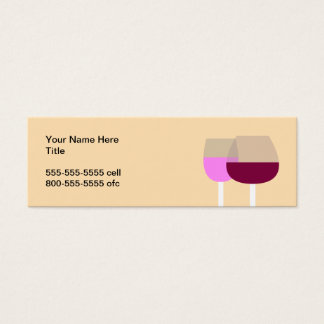 Wine Glasses Mini Business Card