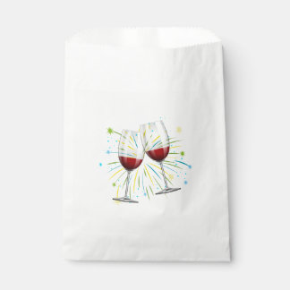 Wine Glasses Red Burgundy Wedding Party Winery Favour Bags