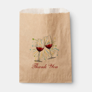 Wine Glasses Red Burgundy Wedding Thank You Winery Favour Bags