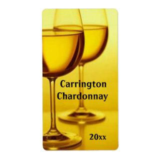 Wine Glasses Wine Label Shipping Label