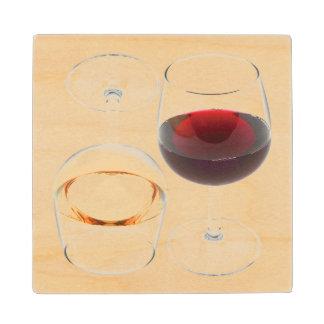 Wine Glasses Wood Coaster
