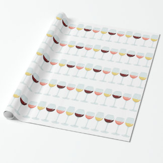 Wine Glasses Wrapping Paper